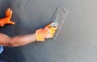 Enduit ciment réalisé par un artisan
