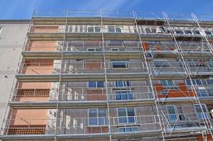 Revêtement façade d'immeuble.