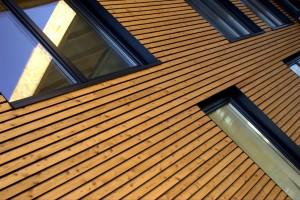 Ravalement d'une façade en bois
