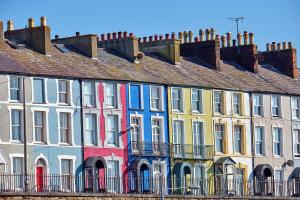 Photo de façades de maisons colorées